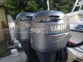 "Twin 2001 Yamaha HPDI 150 Outboard boat motors, 25"" w/ complete rigging 1487Hrs."