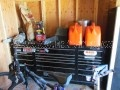Snap-on classic 96 tool box with cart, locker, motor stand and loaded with tools